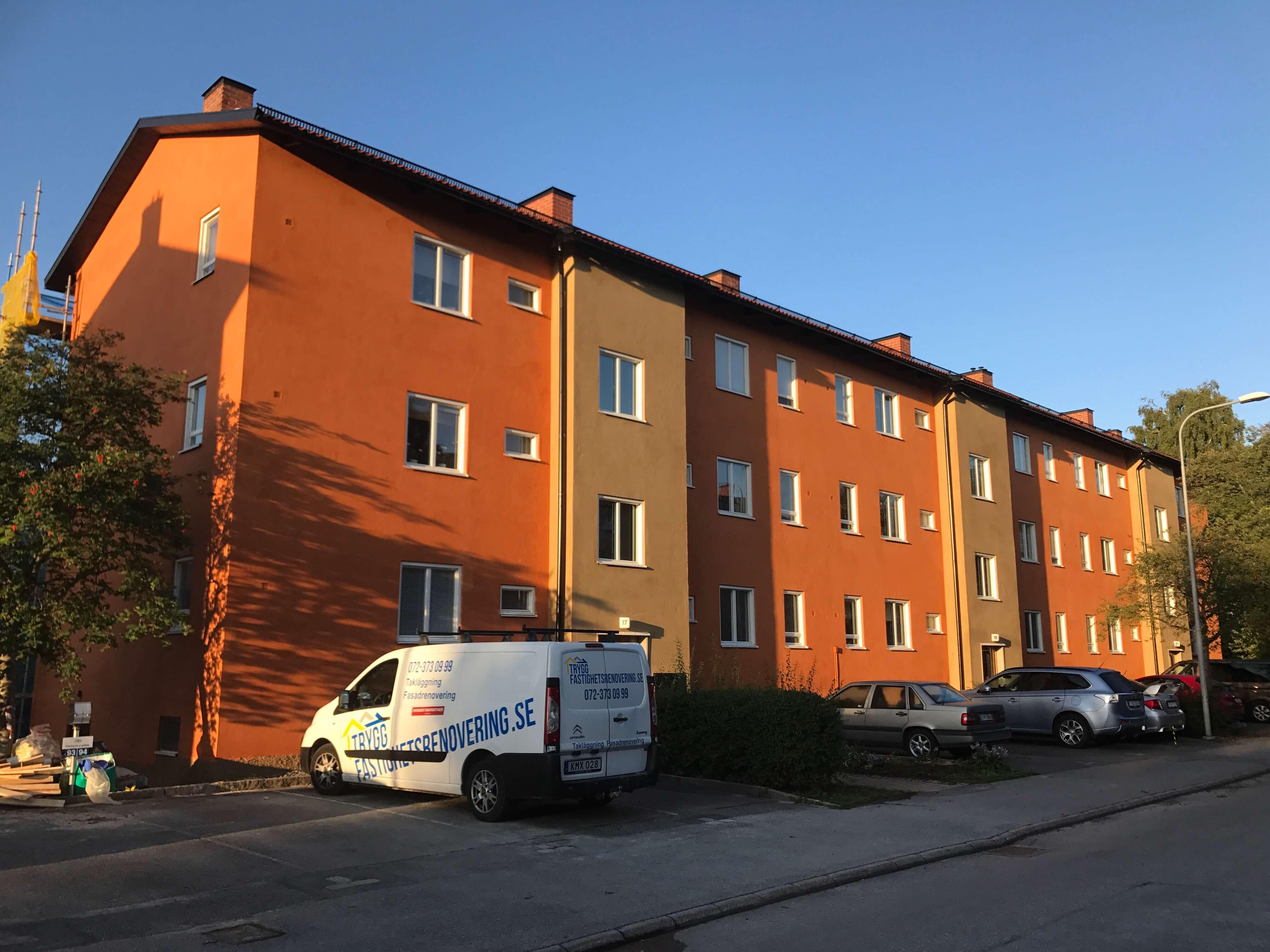 Fasadrenovering i Södertälje för BRF 2